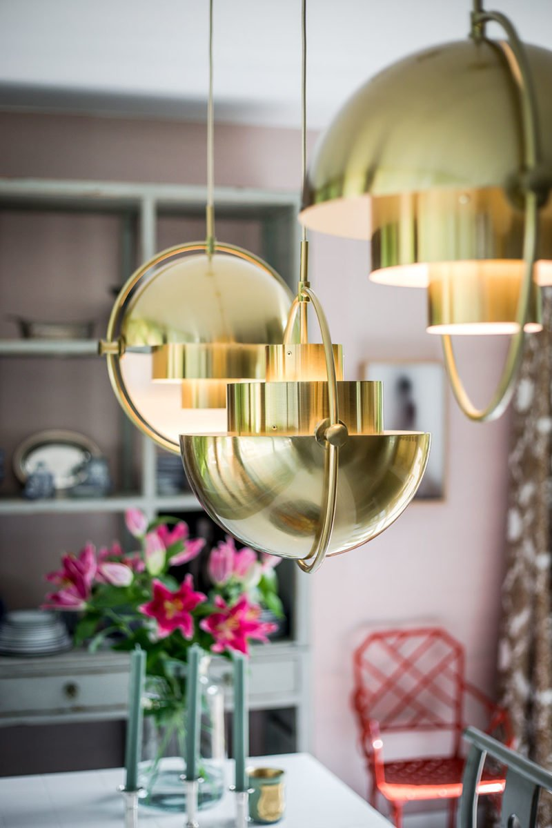 dutch interior design gold lamp ceiling