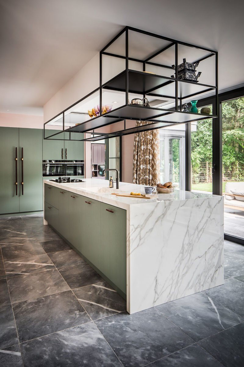 dutch interior design marble kitchen cyan