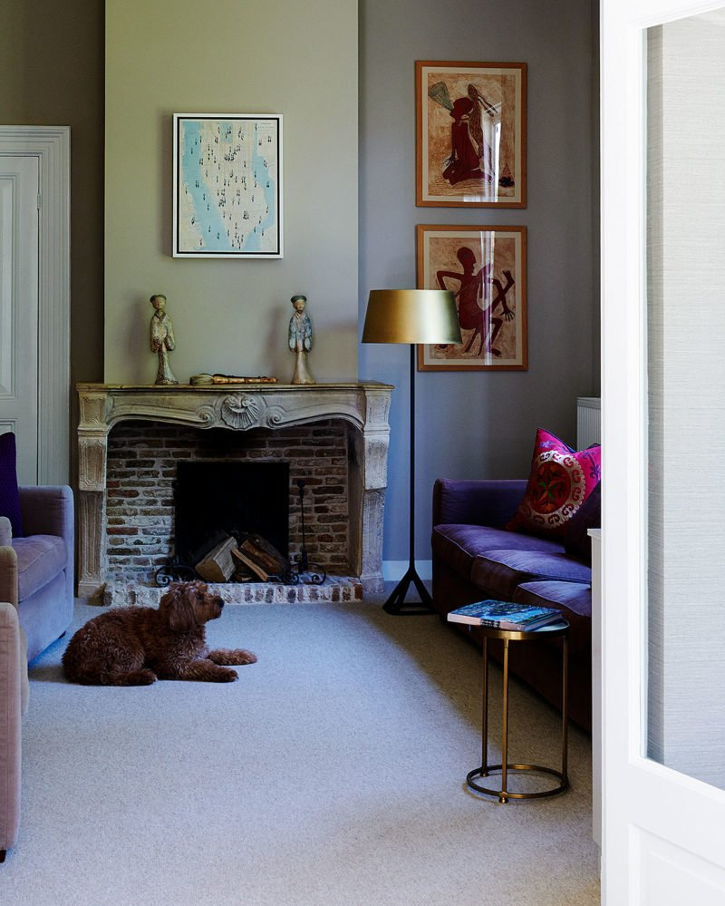 dutch interior design dog livingroom labradoodle