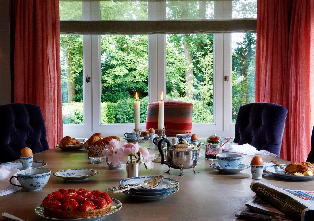 stock dutch interior design breakfast table
