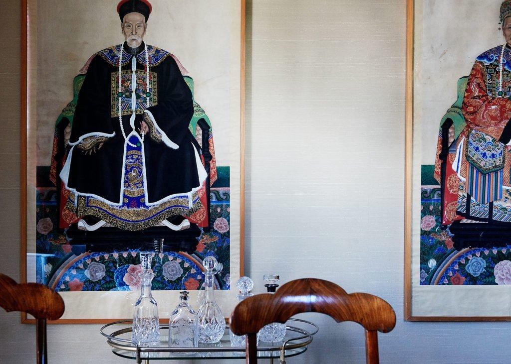 stock dutch interior design chinese wallpaper