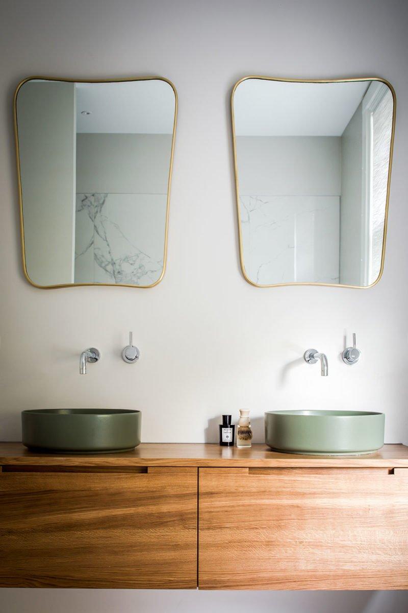 dutch interior design bathroom marble gold mirror