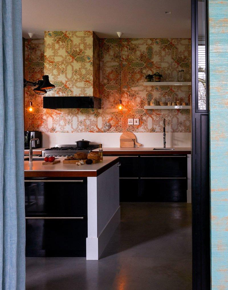 dutch interior design kitchen ornament wallpaper
