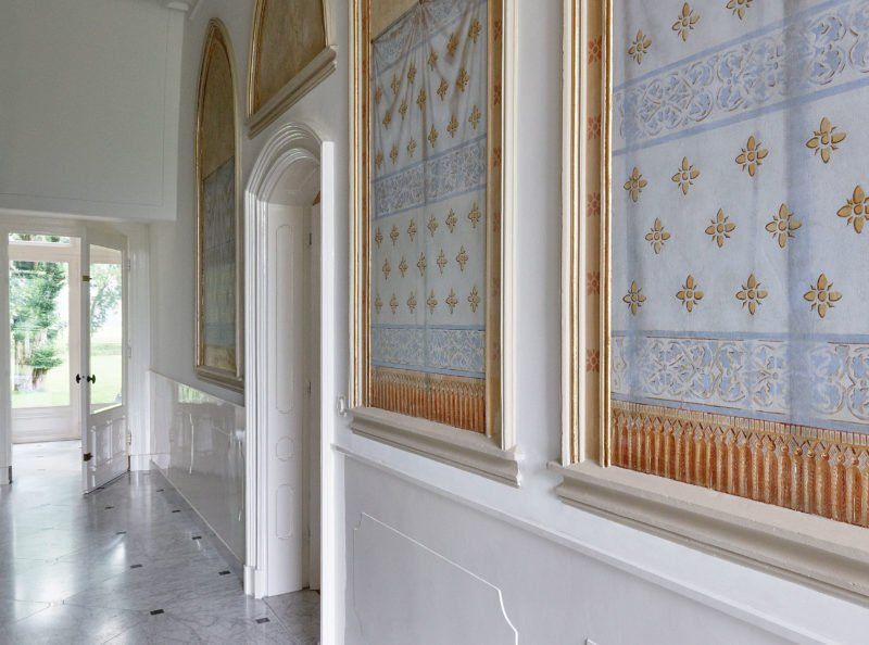 stock dutch interior design white marble