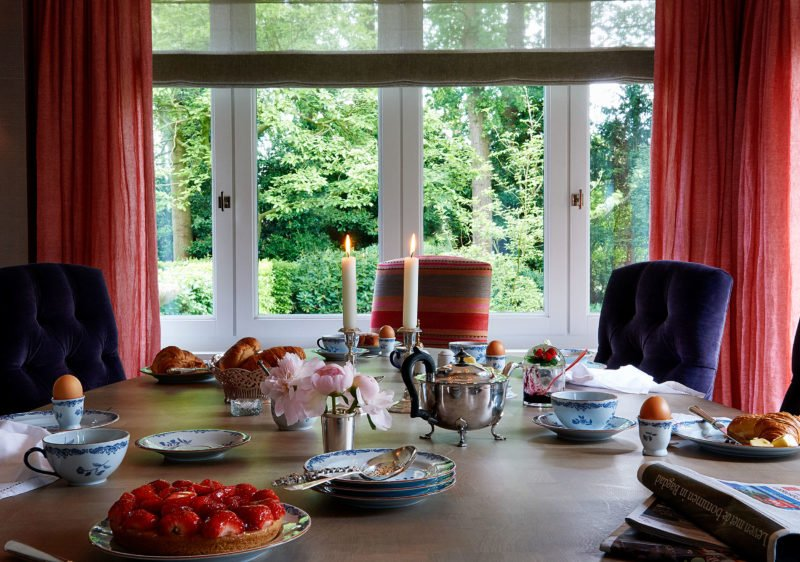 stock dutch interior design breakfast table
