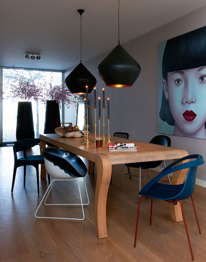 dutch interior design painting asian woman dining table