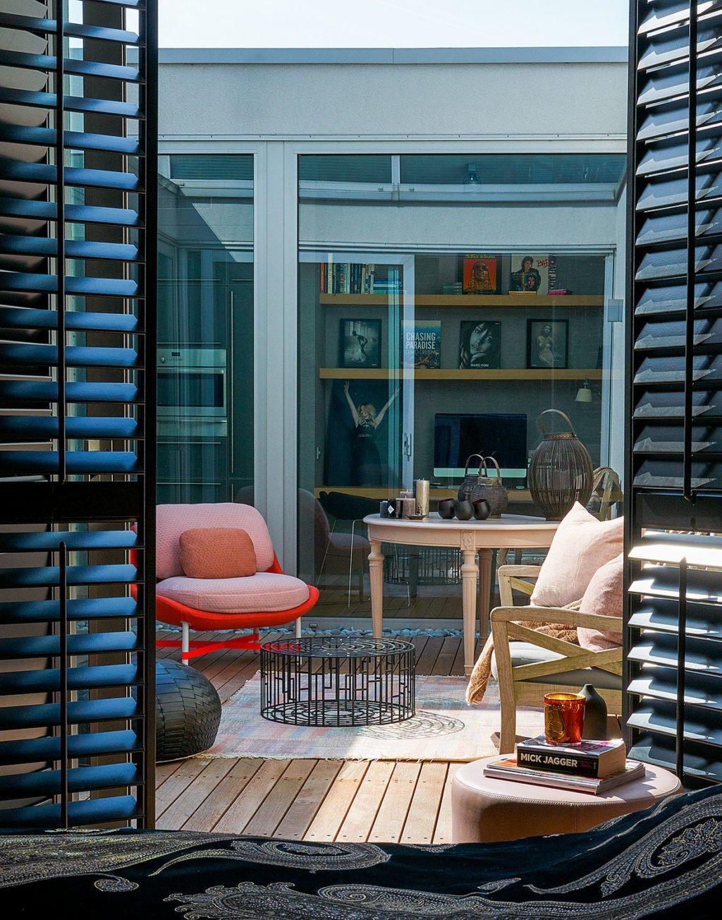 dutch interior design ouside wooden porch