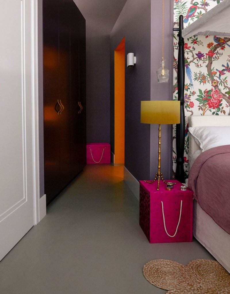 dutch interior design flow wallpaper bedroom