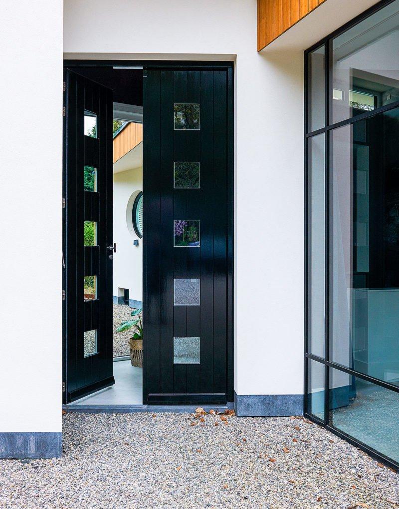 dutch interior design outside entrance door dark