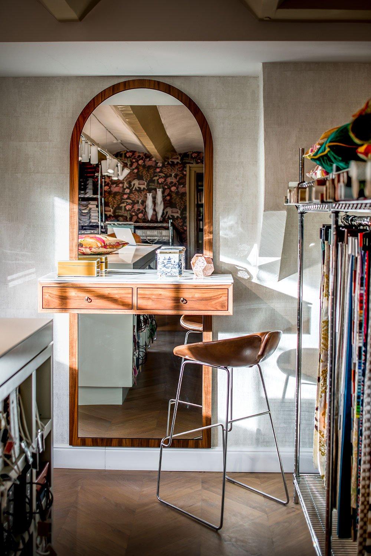 dutch interior design old mirror brown