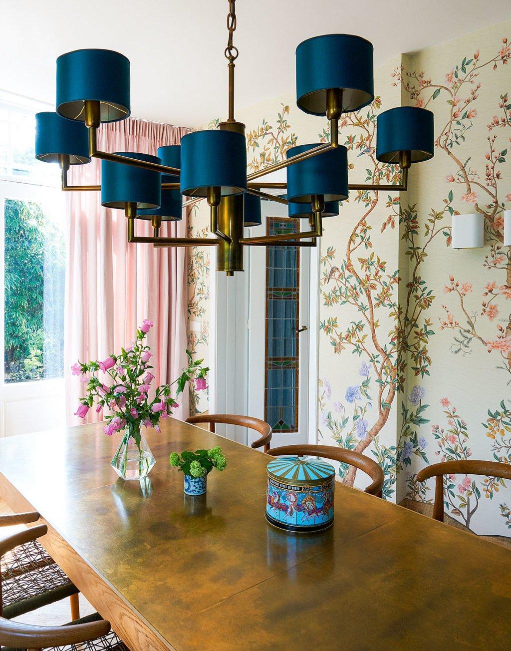 dutch interior design plant wallpaper