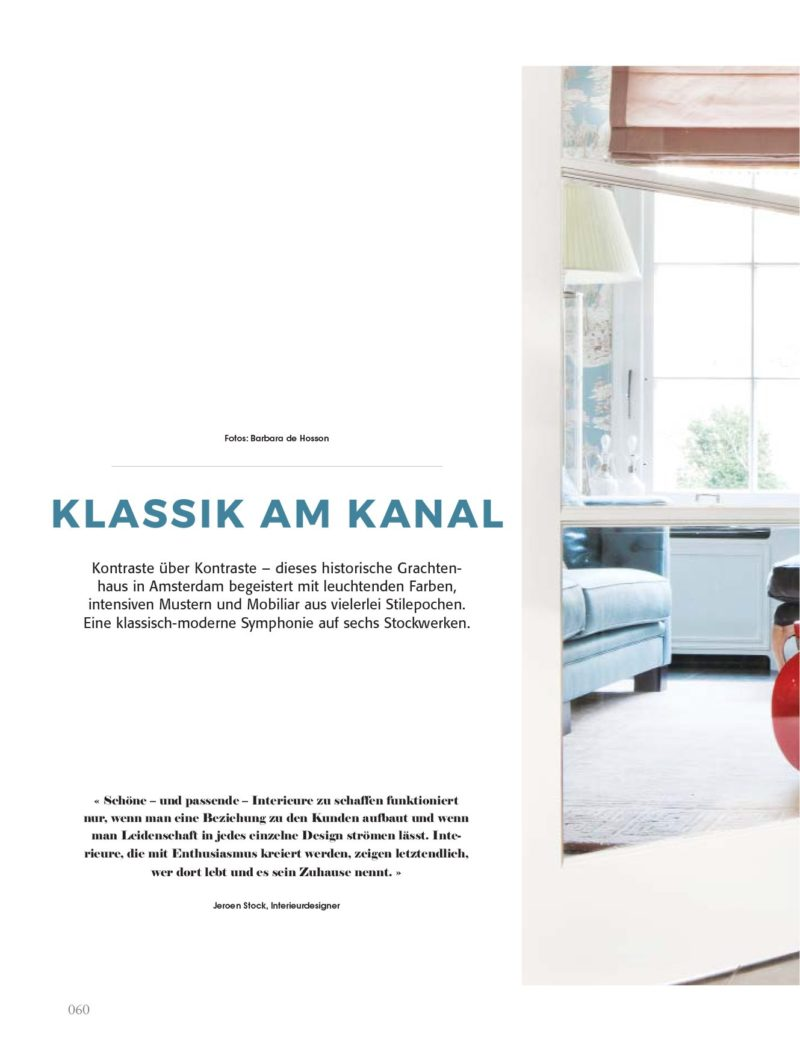 magazine klassich wohnen klassik am kanal