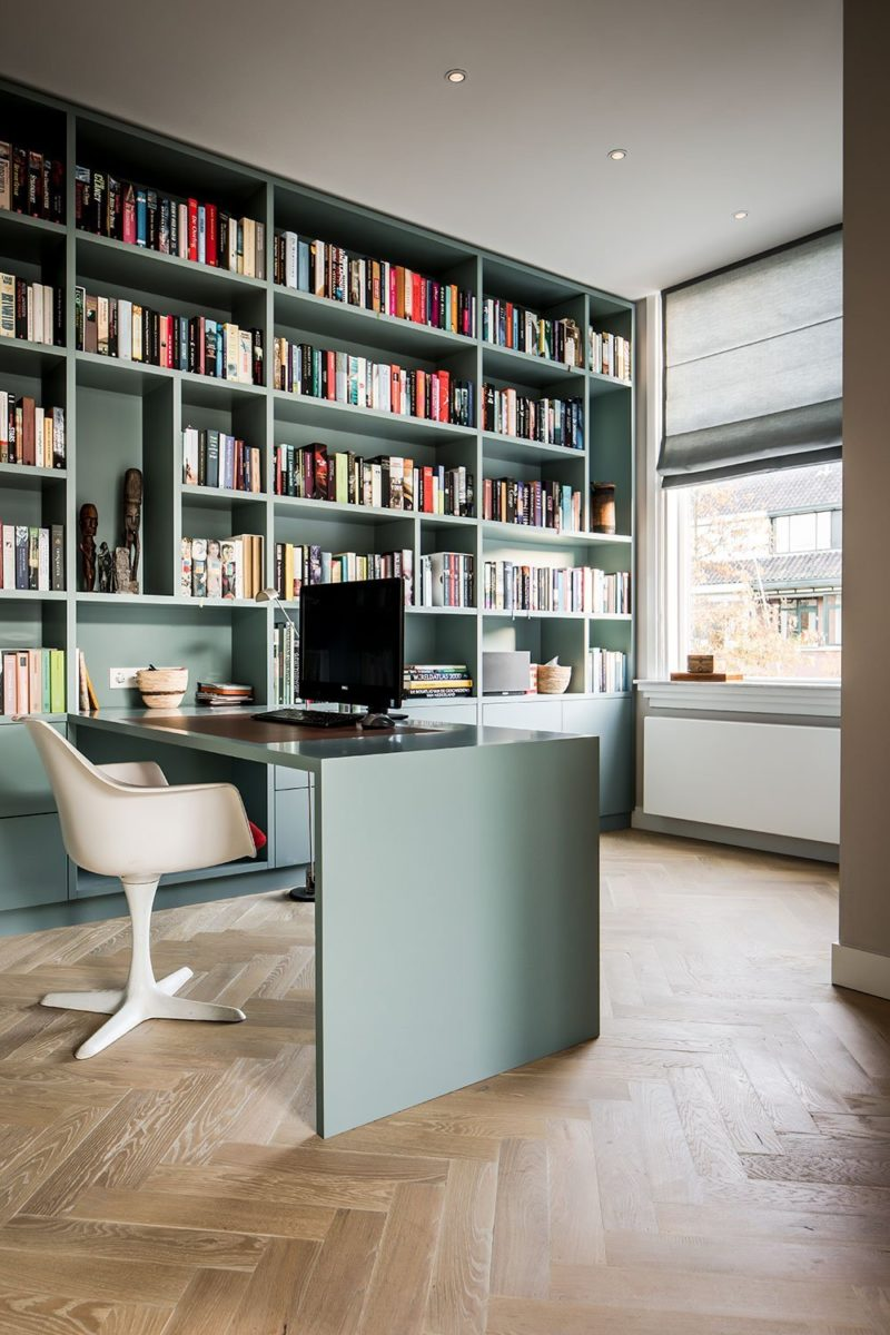 office books green interior design